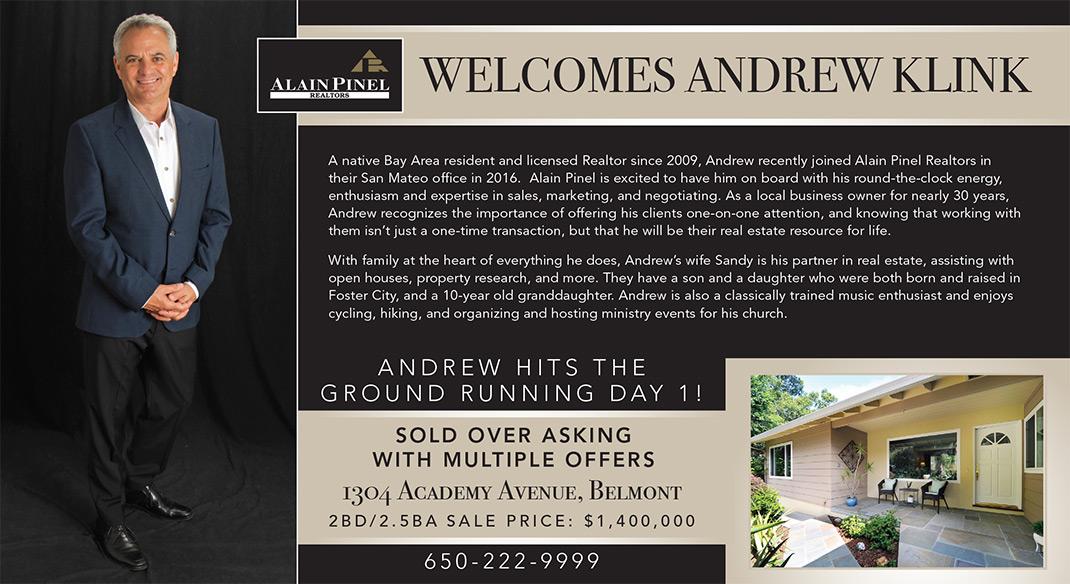 Andrew Klink Welcomes Postcard