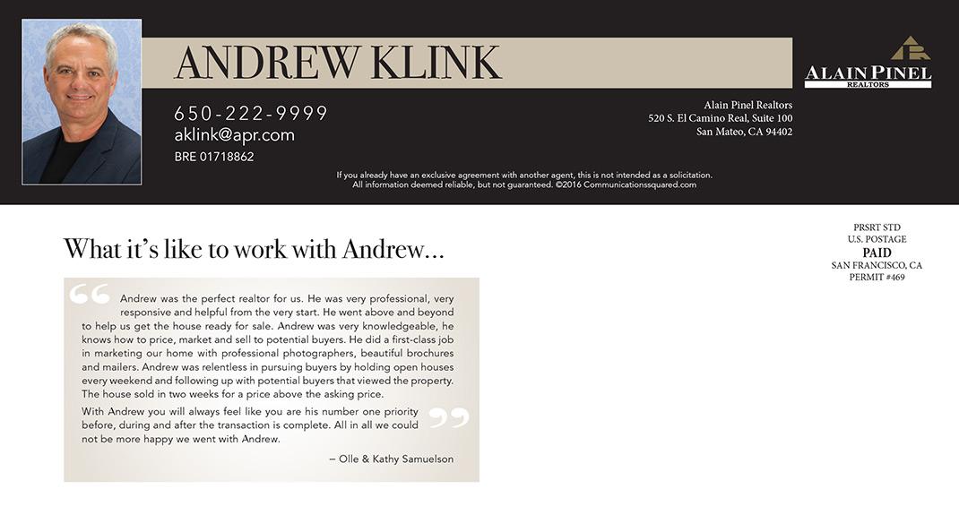 Andrew Klink Intro Postcard