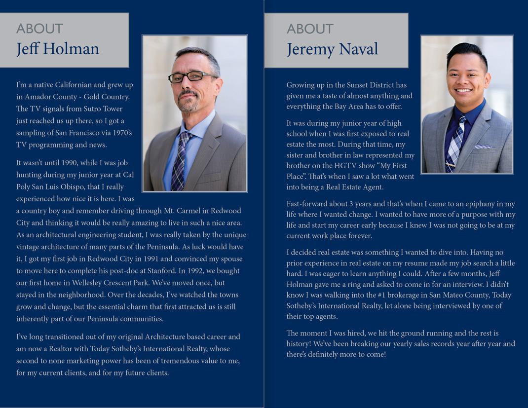 Jeff Holman Jeremy Naval Personal Brochure