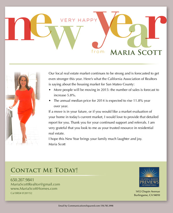 Maria Scott Seasonal Email