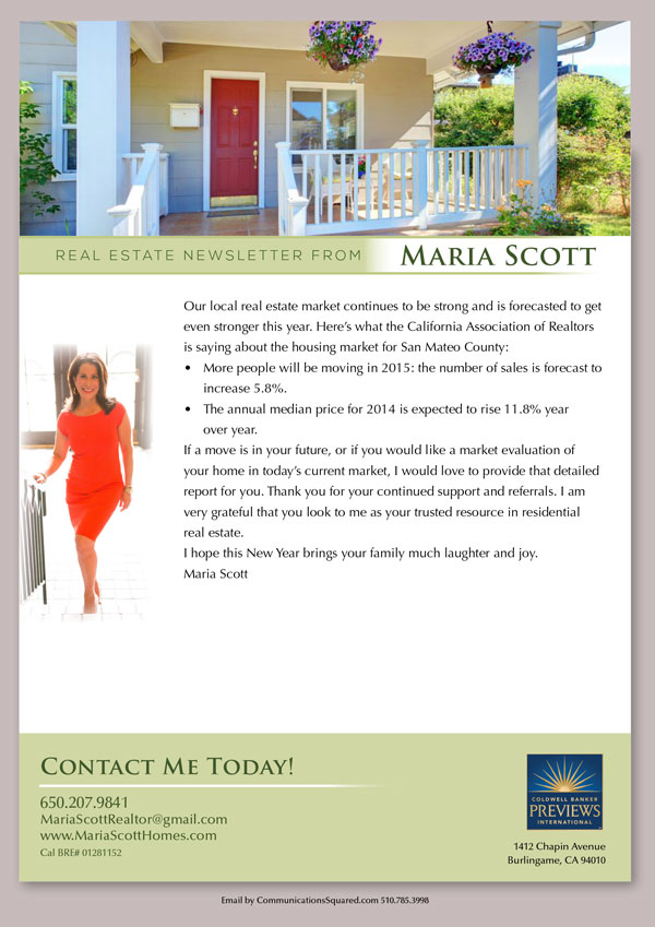Maria Scott Newsletter