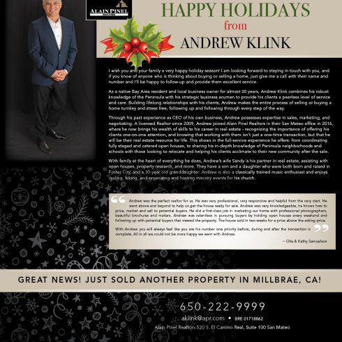 Andrew Klink Holiday